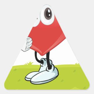 I love dancing triangle sticker