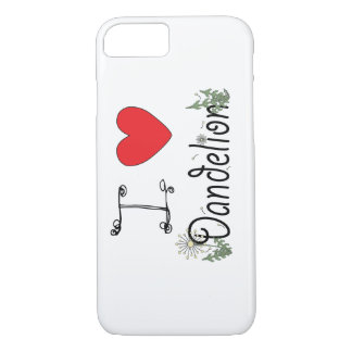 I Love Dandelion iPhone 7 Case for Foragers