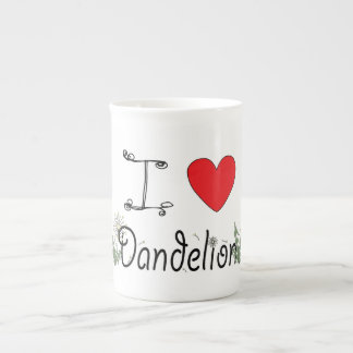 I Love Dandelion Mug for Foragers Bone China Mug
