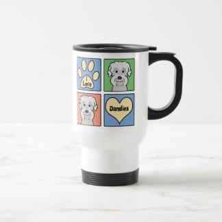 I Love Dandie Dinmont Terriers Stainless Steel Travel Mug