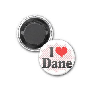 I love Dane 3 Cm Round Magnet