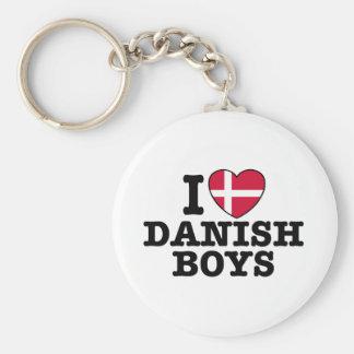 I Love Danish Boys Basic Round Button Key Ring