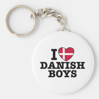I Love Danish Boys Key Ring