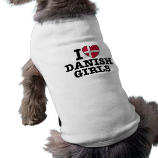 I Love Danish Girls Sleeveless Dog Shirt