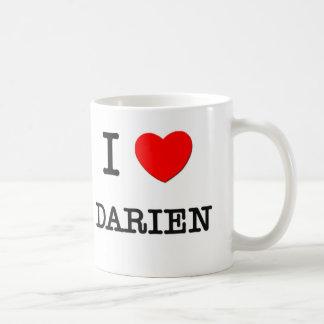 I Love Darien Basic White Mug