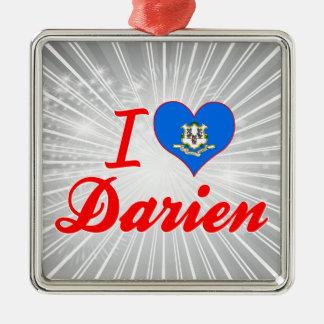 I Love Darien, Connecticut Christmas Ornaments