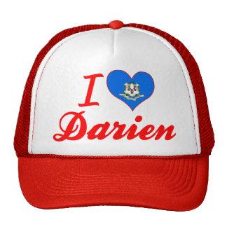 I Love Darien, Connecticut Mesh Hat