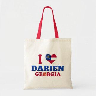 I Love Darien, Georgia Budget Tote Bag