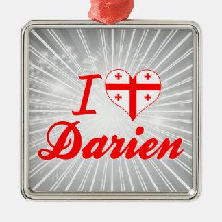 I Love Darien, Georgia Ornaments