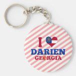 I Love Darien, Georgia Key Chains