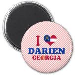 I Love Darien, Georgia Magnet