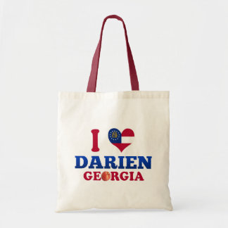 I Love Darien, Georgia Tote Bag