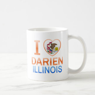 I Love Darien, IL Coffee Mugs