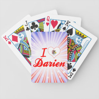 I Love Darien Illinois Bicycle Playing Cards