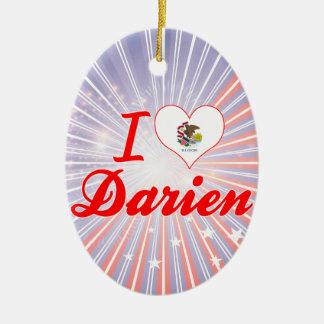 I Love Darien, Illinois Christmas Tree Ornament