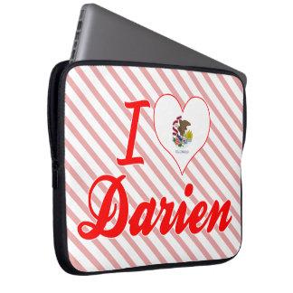 I Love Darien, Illinois Laptop Sleeve