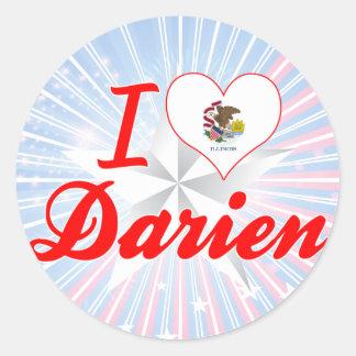 I Love Darien, Illinois Sticker