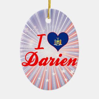 I Love Darien, New York Ornament