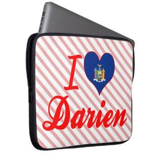 I Love Darien, New York Computer Sleeve