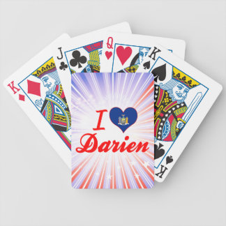 I Love Darien New York Playing Cards