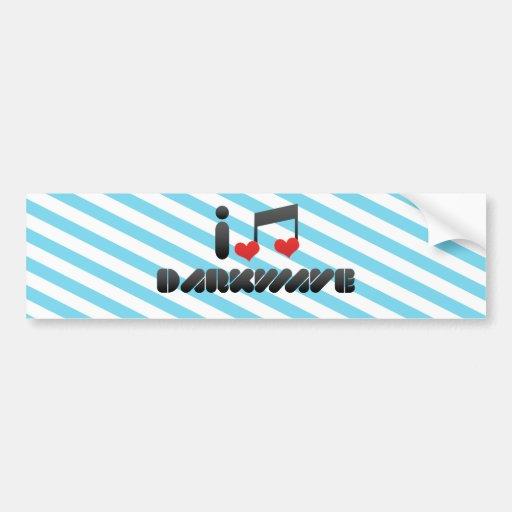 I Love Darkwave Bumper Stickers