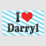 I love Darryl Rectangular Sticker