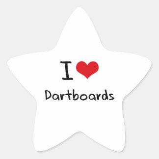 I Love Dartboards Star Sticker