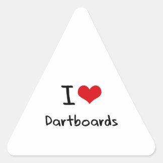 I Love Dartboards Stickers