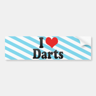 I Love Darts Bumper Sticker
