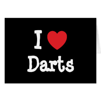 I love Darts heart custom personalized Card