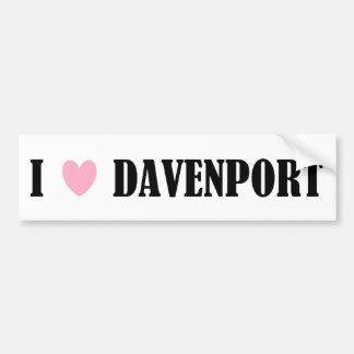I LOVE DAVENPORT BUMPER STICKER