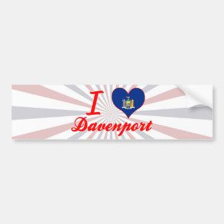I Love Davenport, New York Bumper Stickers