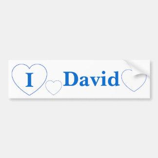 I Love David (BpS) Bumper Sticker