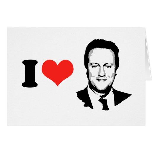 I Love David Cameron Cards