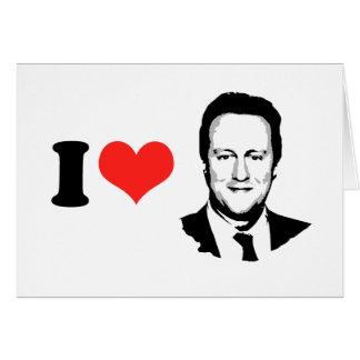 I Love David Cameron Greeting Card