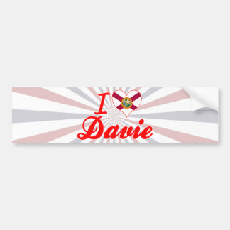 I Love Davie, Florida Bumper Sticker