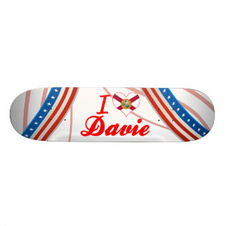 I Love Davie Florida Skate Deck