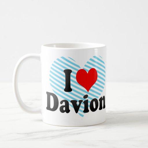 I love Davion Basic White Mug