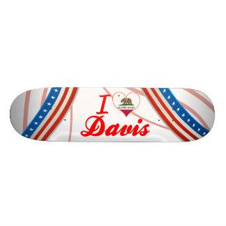 I Love Davis California Skateboard Deck