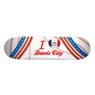 I Love Davis City, Iowa Skate Board Decks