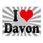 I love Davon Postcard