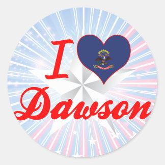 I Love Dawson, North Dakota Stickers