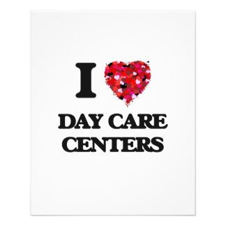 I love Day Care Centers 11.5 Cm X 14 Cm Flyer