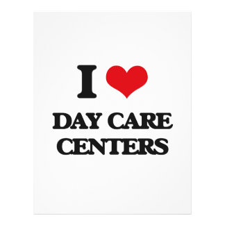 I love Day Care Centers 21.5 Cm X 28 Cm Flyer