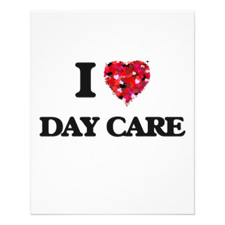 I love Day Care 11.5 Cm X 14 Cm Flyer