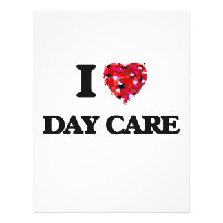 I love Day Care 21.5 Cm X 28 Cm Flyer