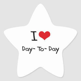I Love Day-To-Day Stickers