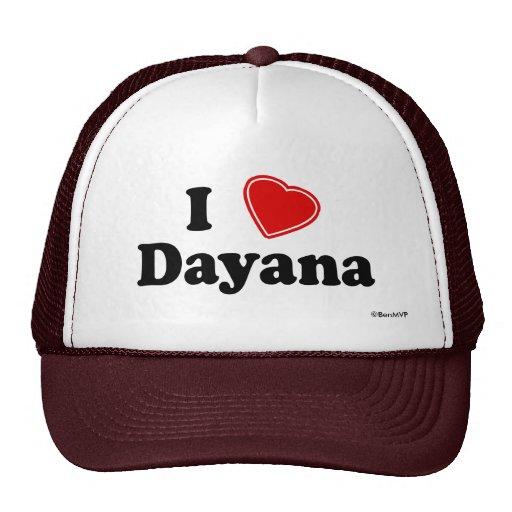 I Love Dayana Mesh Hat