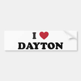 I Love Dayton Ohio Bumper Sticker
