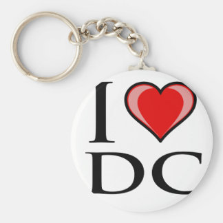 I Love DC - District of Columbia Basic Round Button Key Ring